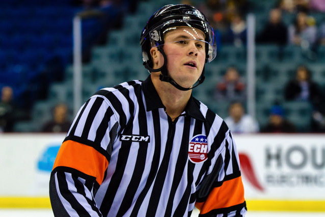 ECHL Referee Nic Leduc