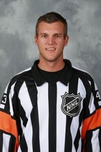 NHL Referee Garrett Rank