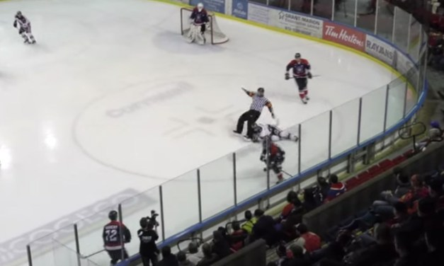 LNAH Referee Jim Chandik Injured by Hit From Behind