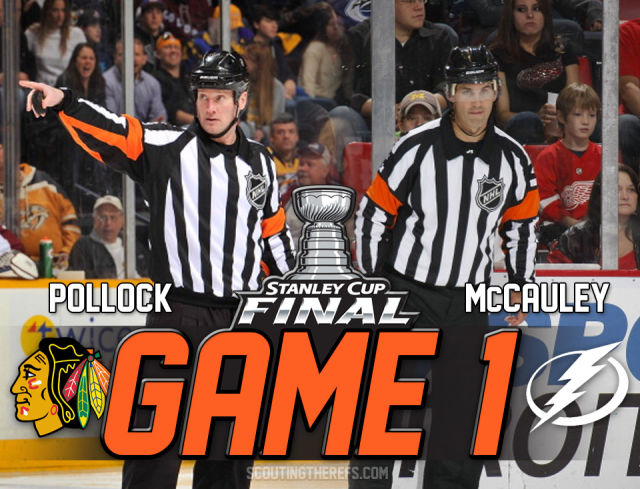 Tonight's Stanley Cup Final Referees & Linesmen – Game 1