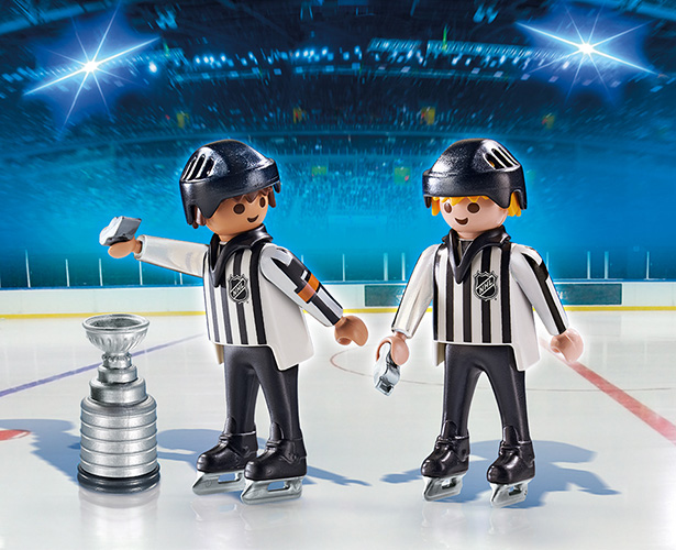Playmobil - NHL Referee and Linesman with Stanley Cup