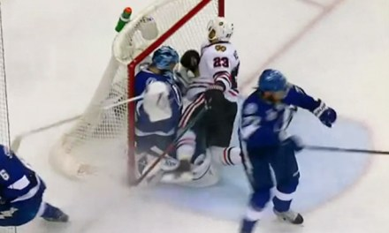 Hawks' Versteeg Suffers Insult, Injury on Interference Call