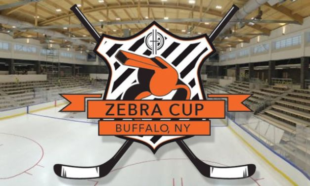 Referees, Linesman Facing Off at 2015 Zebra Cup
