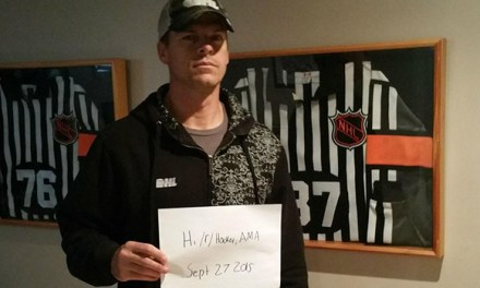 Referee Bob Langdon Does Reddit Hockey AMA