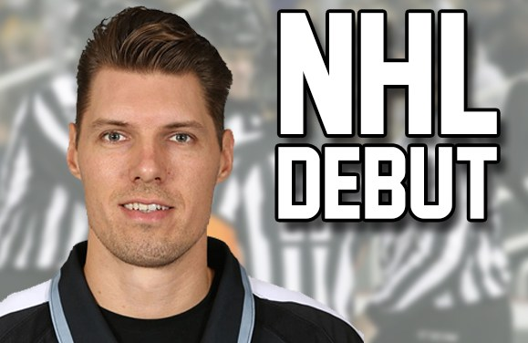 Linesman Ryan Gibbons to Work First NHL Game