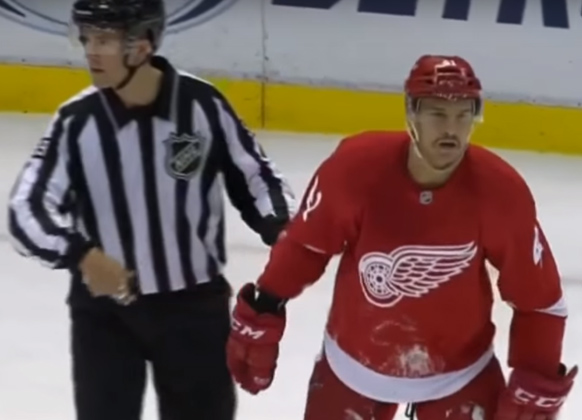 Wings' Glendening Unhappy With Call