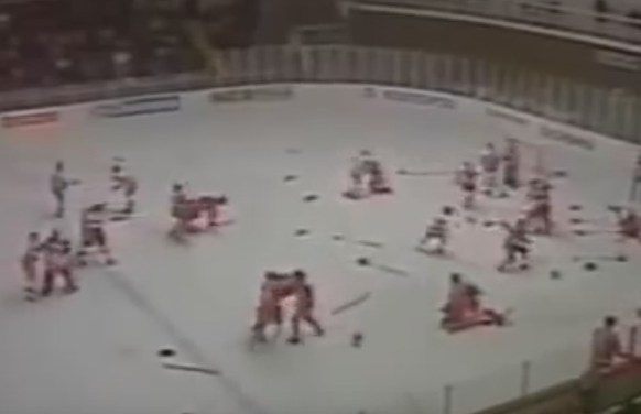 World Juniors History – Punch-Up at Piestany