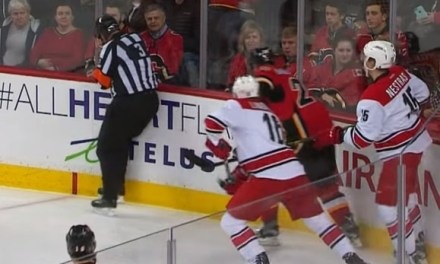Referee Mike Leggo Hit In Face By Clearing Attempt