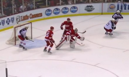 Wings' Mrazek Whistled Down on Attempted OT Pass