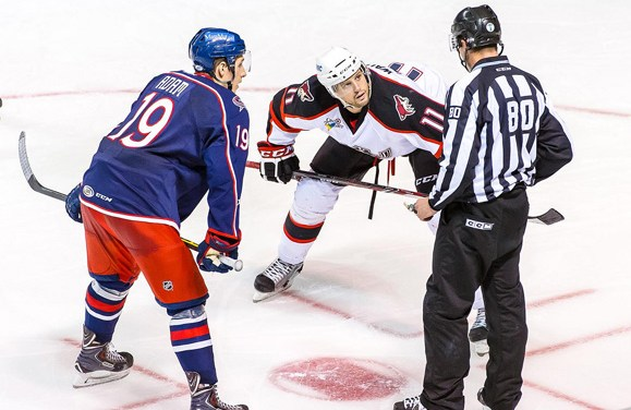 Hard Work Paying Off for AHL Linesman Landon Bathe