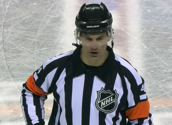Referee Wes McCauley's Enthusiastic Goal Call