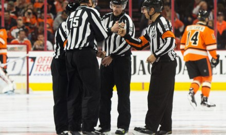 NHL Officials' Center Ice Tribute To Fallen Linesmen
