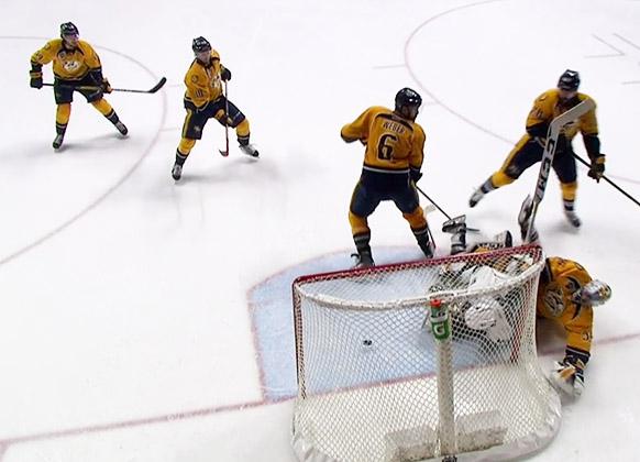 Sharks Predators - Pavelski OT Goal Waved Off