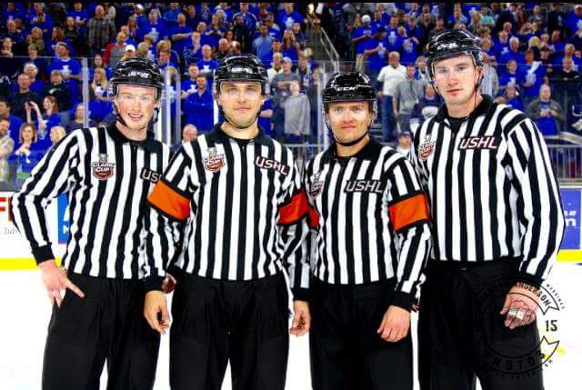 Referee Korey Chipperfield, then with the USHL