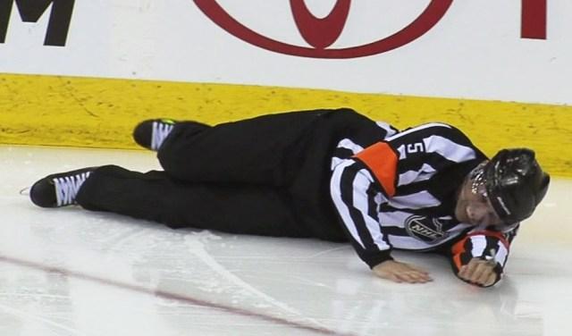 Referee Chris Rooney Injured