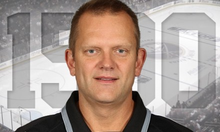 Linesman Tim Nowak Recognized for 1500 NHL Game