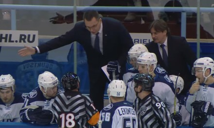 KHL Coach Gets Game Misconduct for Abuse of Refs