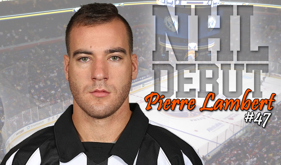Referee Pierre Lambert to Make NHL Debut