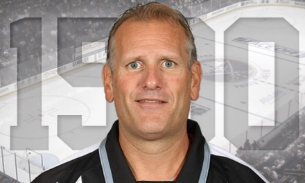 Linesman Greg Devorski Honored for 1500 Games