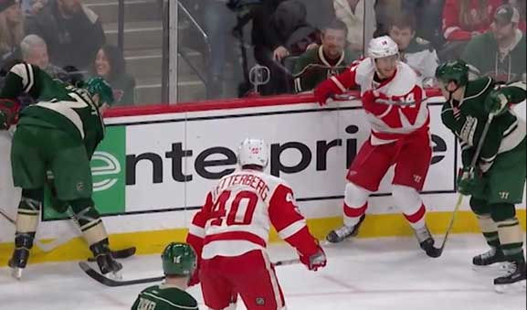 Red Wings' Gustav Nyquist Suspended 6 Games for High Sticking