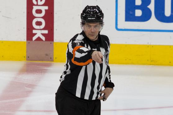 NHL Ref Mike Leggo Working Final NHL Game