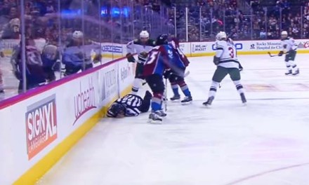 Linesman Ryan Galloway Leaves Game After Taking Puck to Face