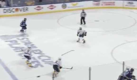 Preds' Forsberg Penalized for Stick Pass