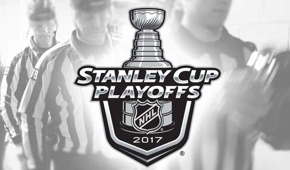 Tonight's NHL Playoff Referees & Linesmen – 5/4/17