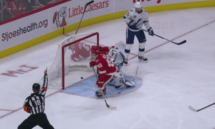 Wings Lose Goal After Challenge, Score on Penalty Shot
