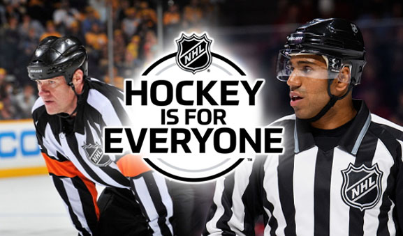 NHL Names Officials Jackson, Alphonso as 'Hockey is for Everyone' Ambassadors