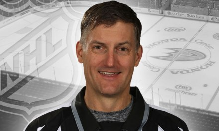 Linesman Shane Heyer Working Final NHL Game
