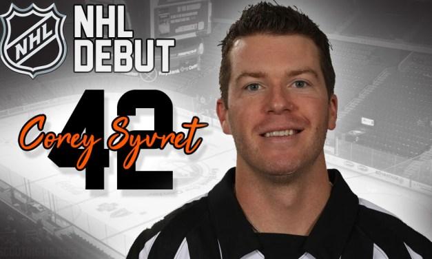 Referee Corey Syvret to Make NHL Debut in Buffalo