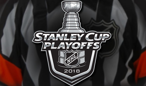 Tonight's NHL Stanley Cup Playoff Referees and Linesmen – 4/26/18