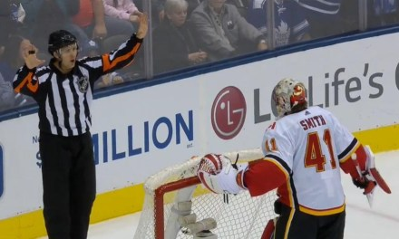 Flames' Peters Rips Refs After 3-1 Win Over Leafs