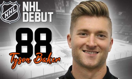 Linesman Tyson Baker to Make NHL Debut