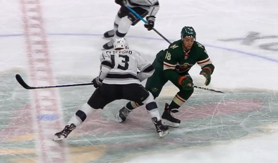 Kings' Clifford Fined $4,301 for Kneeing Wild's Greenway