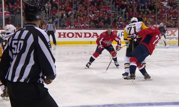 Pens' Malkin Ejected for Hit on Caps' Oshie