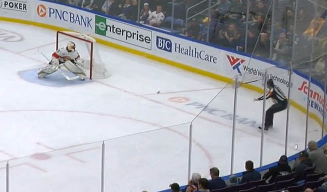Blues Goal Disallowed After Shot Hits Ref Beats Luongo Scouting