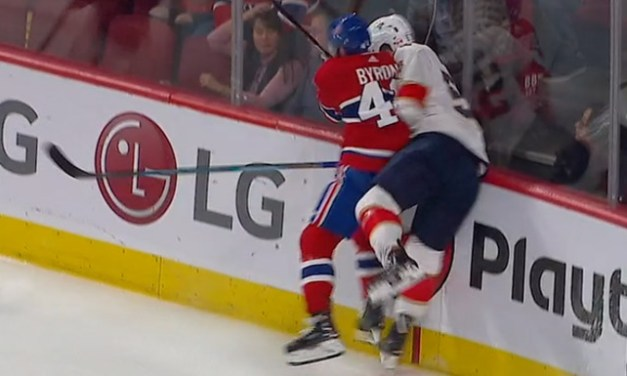 Canadiens' Byron Suspended Three Games for Charging