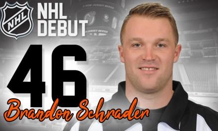 Referee Brandon Schrader to Make NHL Debut
