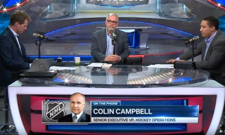 "NHL Executive VP Colin Campbell: Hand Pass Was ""Wrong Call"""