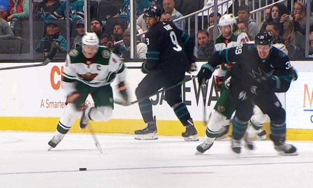 Wild's Hartman Ejected for Slashing Sharks' Kane