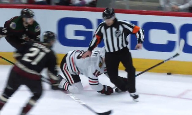 Referee Tim Peel Injured at Hawks vs. Coyotes