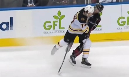 No Supplemental Discipline for Bruins' McAvoy After Hit on Canes' Staal