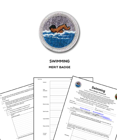 Swimming Merit Badge (WORKSHEET & REQUIREMENTS)