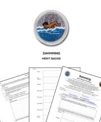 Swimming Merit Badge Worksheet - Kidz Activities