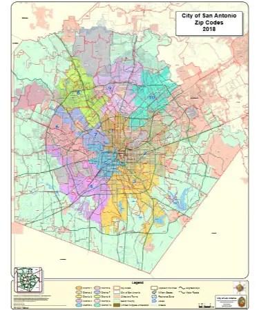 Map Of San Antonio Zip Codes : antonio, codes, Antonio, Scouting