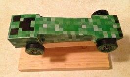 Minecraft pinewood derby car