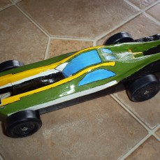 Star Wars pinewood derby car