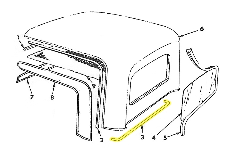 Scout 80, Scout 800 Lower Rear Cab Top Seal For Improved